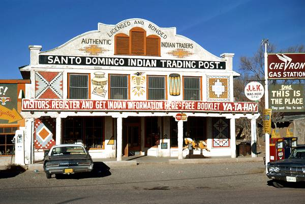 Santo Domingo Trading Post Route 66 NM in 1971