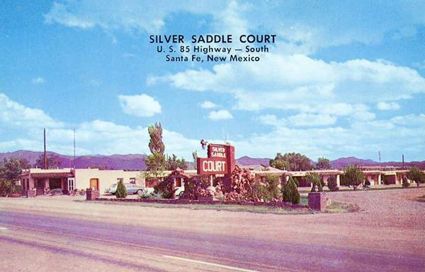 Postcard of the Silver Saddle Motel, Santa Fe NM