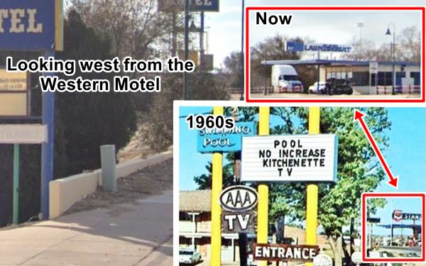 Then and now view of the Standard Gas station in Santa Rosa
