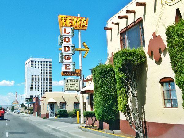 Tewa Lodge in Albuquerque, Route 66, New Mexico