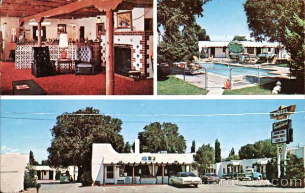 Postcard of the Thunderbird Inn, Santa Fe NM