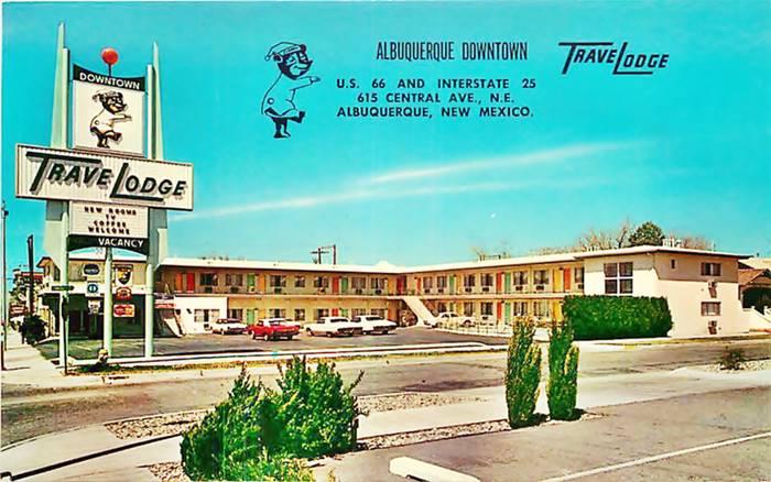 TraveLodge Downtown Albuquerque postcard