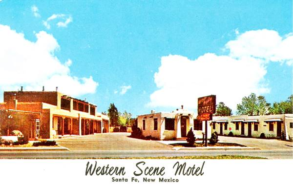 Postcard of the Western Scene Motel, Santa Fe NM