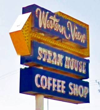 Neon Sign at Western View Diner, Route 66