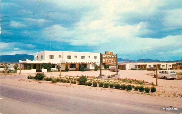 Postcard of the Westerner Motel, Santa Fe NM
