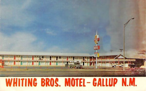 Gallyp Whiting Bros motel postcard