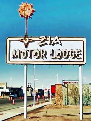 Zia Motel neon sign