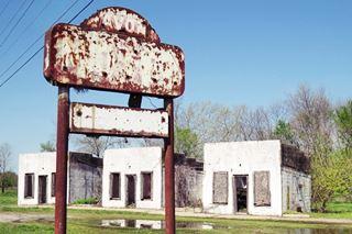Avon Court Mote in ruins, Afton, Oklahoma