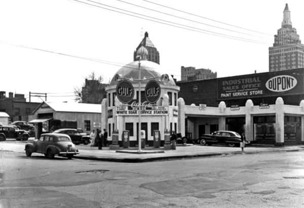 Blue Dome Service Station vintage postcard Tulsa OK Route 66