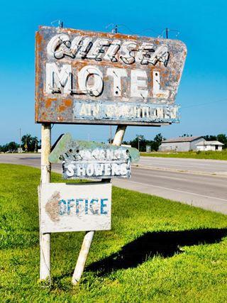 Chelsea motel neon sign