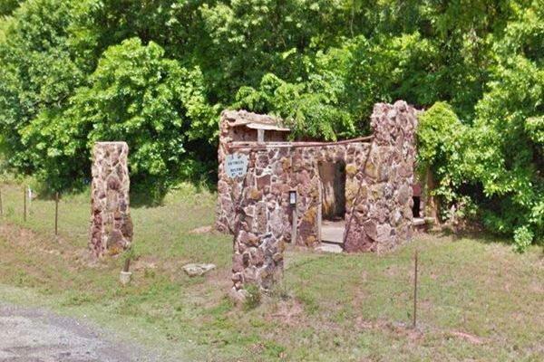 Vintage service station ruins
