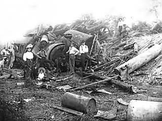 Train Wreck at Kellyville in 1917
