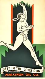 Marathon oil vintage logo