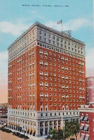 Mayo Hotel vintage postcard Tulsa Oklahoma Route 66
