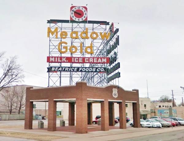 Meadow Gold Neon Sign Tulsa OK Route 66