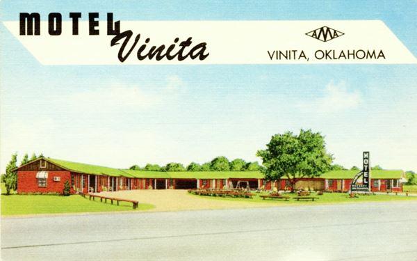 Motel Vinita postcard, Vinita