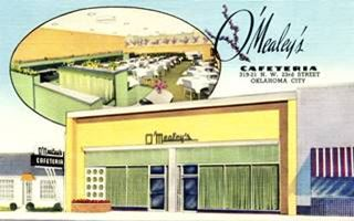 O'Mealey's Cafeteria vintage postcard in Oklahoma City US66