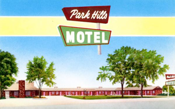 Park Hills Motel Vinita postcard, Vinita