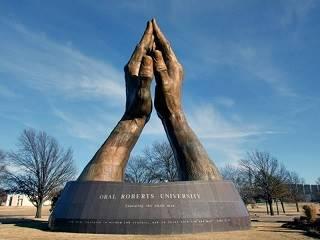 Praying Hands sculpture, Tulsa