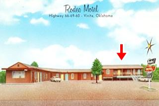 Rodeo Motel postcard