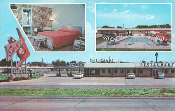 Sands Motel old postcard Tulsa OK Route 66