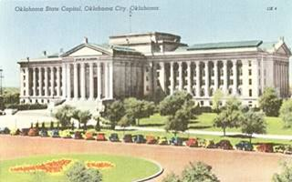 Capitol without dome 1950s  in Oklahoma City US66