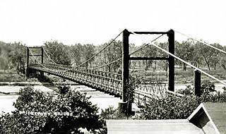 Suspension toll bridge at Bridgeport Oklahoma