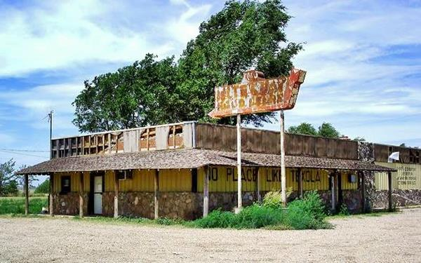Old Bar and diner in Texola Oklahoma