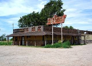 Old bar in Texola, Oklahoma