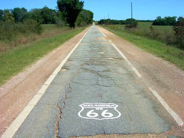 Ribbon Road or 9 foot wide Route 66 in Miami Oklahoma
