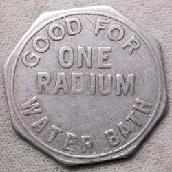 Radium Baths Token