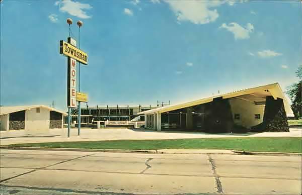 Townsman Motel in Miami vintage postcard