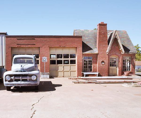 Vintage Phillips 66 Gas Station and historic cars, Chandler