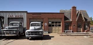 Vintage Phillips 66 Gas Station in Chandler Oklahoma