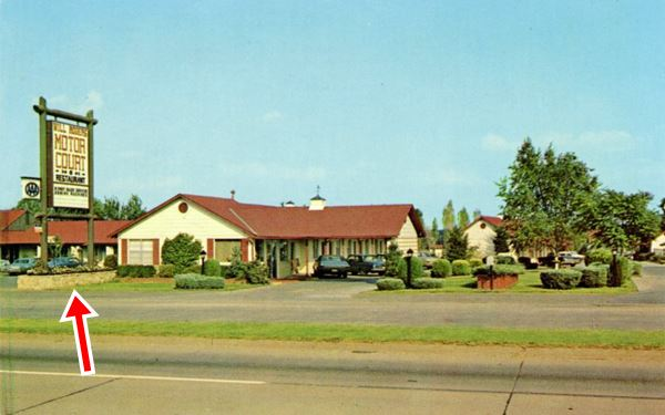 Will Rogers Motel postcard Claremore Oklahoma