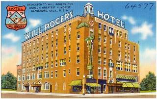 Will Rogers Hotel, Claremore Vintage postcard