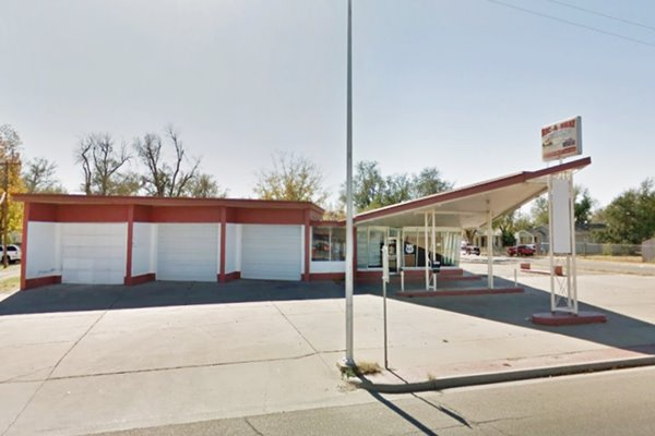The former Martin's Phillips 66 Station in Amarillo Texas