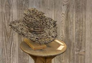 barbed wire hat at the McLean museum