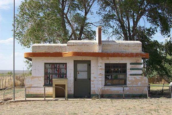 Closed Cafe in Glenrio, Texas