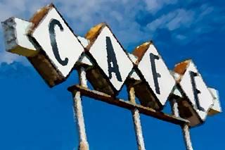 Hickory Cafe Vintage Sign