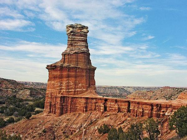 Palo Duro Canyon, Lighthouse pinnacle