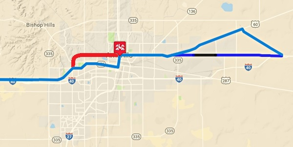 Amarillo Route Texas - Map of amarillo texas