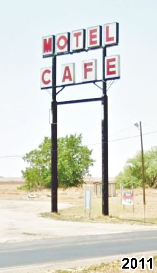 old motel and cafe sign in Conway Texas