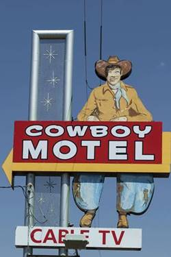 old Cowboy motel sign Amarillo