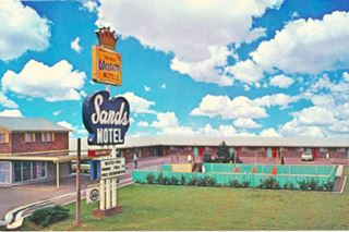 vintage postcard Sands Motel in Vega