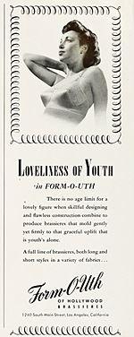 1947 Brassiere Advertisement